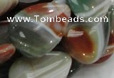 CAG808 15.5 inches 22*30mm flat teardrop rainbow agate gemstone beads