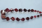 CAG8522 15.5 inches 9*10mm - 23*24mm cube dragon veins agate beads