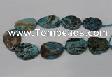 CAG8549 15.5 inches 30*40mm - 35*45mm freeform ocean agate beads