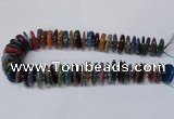 CAG8565 6*22mm - 10*26mm tyre dragon veins agate beads wholesale