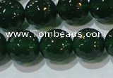 CAG8586 15.5 inches 16mm faceted round green agate gemstone beads