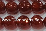 CAG8595 15.5 inches 16mm faceted round red agate gemstone beads