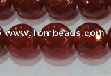 CAG8596 15.5 inches 18mm faceted round red agate gemstone beads