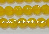 CAG8603 15.5 inches 10mm faceted round yellow agate gemstone beads