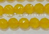 CAG8604 15.5 inches 12mm faceted round yellow agate gemstone beads