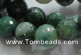 CAG867 15.5 inches 12mm faceted roundagate gemstone beads