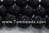 CAG8682 15.5 inches 10mm round matte tibetan agate gemstone beads