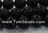 CAG8686 15.5 inches 8mm round matte tibetan agate gemstone beads