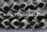 CAG8696 15.5 inches 8mm round matte tibetan agate gemstone beads