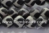 CAG8697 15.5 inches 10mm round matte tibetan agate gemstone beads