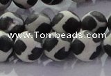 CAG8698 15.5 inches 12mm round matte tibetan agate gemstone beads