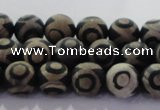 CAG8700 15.5 inches 6mm round matte tibetan agate gemstone beads