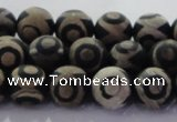 CAG8701 15.5 inches 8mm round matte tibetan agate gemstone beads