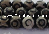 CAG8702 15.5 inches 10mm round matte tibetan agate gemstone beads