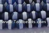CAG8715 15.5 inches 6mm round matte tibetan agate gemstone beads