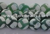 CAG8721 15.5 inches 8mm round matte tibetan agate gemstone beads