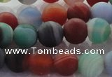 CAG8731 15.5 inches 8mm round matte madagascar agate beads