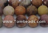 CAG8748 15.5 inches 10mm round matte rainbow agate beads