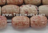 CAG8765 15.5 inches 13*18mm rice chrysanthemum agate beads