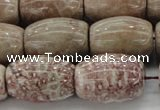 CAG8766 15.5 inches 15*20mm rice chrysanthemum agate beads