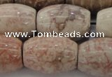 CAG8767 15.5 inches 18*25mm rice chrysanthemum agate beads