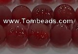 CAG8907 15.5 inches 6mm round matte red agate beads wholesale