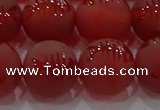 CAG8909 15.5 inches 10mm round matte red agate beads wholesale