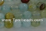 CAG8994 15.5 inches 6mm faceted round fire crackle agate beads