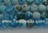 CAG9000 15.5 inches 6mm faceted round fire crackle agate beads
