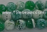 CAG9008 15.5 inches 8mm faceted round fire crackle agate beads