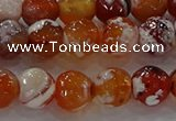 CAG9016 15.5 inches 10mm faceted round fire crackle agate beads