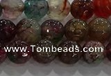 CAG9022 15.5 inches 8mm faceted round fire crackle agate beads