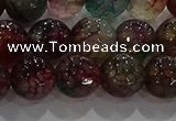 CAG9023 15.5 inches 10mm faceted round fire crackle agate beads
