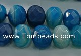 CAG9045 15.5 inches 12*16mm faceted oval line agate beads