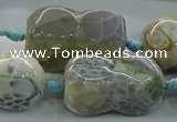 CAG9067 15.5 inches 16*30mm peanut-shaped fire crackle agate beads