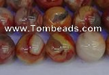 CAG9104 15.5 inches 12mm round red crazy lace agate beads