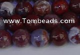 CAG9123 15.5 inches 10mm round red lightning agate beads
