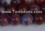 CAG9124 15.5 inches 12mm round red lightning agate beads