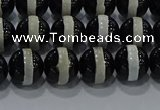 CAG9133 15.5 inches 8mm round tibetan agate beads wholesale