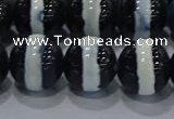 CAG9136 15.5 inches 14mm round tibetan agate beads wholesale