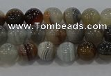 CAG9148 15.5 inches 6mm round line agate beads wholesale