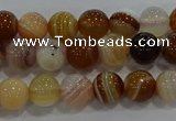 CAG9155 15.5 inches 6mm round line agate beads wholesale