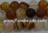 CAG9156 15.5 inches 8mm round line agate beads wholesale