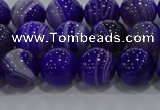 CAG9171 15.5 inches 8mm round line agate beads wholesale