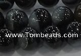 CAG9189 15.5 inches 14mm round line agate beads wholesale