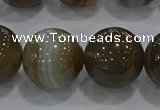 CAG9208 15.5 inches 18mm round line agate gemstone beads