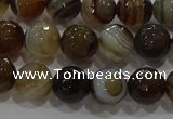 CAG9213 15.5 inches 8mm faceted round line agate gemstone beads
