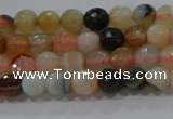 CAG9220 15.5 inches 4mm faceted round line agate beads wholesale