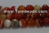 CAG9229 15.5 inches 4mm faceted round line agate beads wholesale