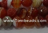 CAG9231 15.5 inches 8mm faceted round line agate beads wholesale